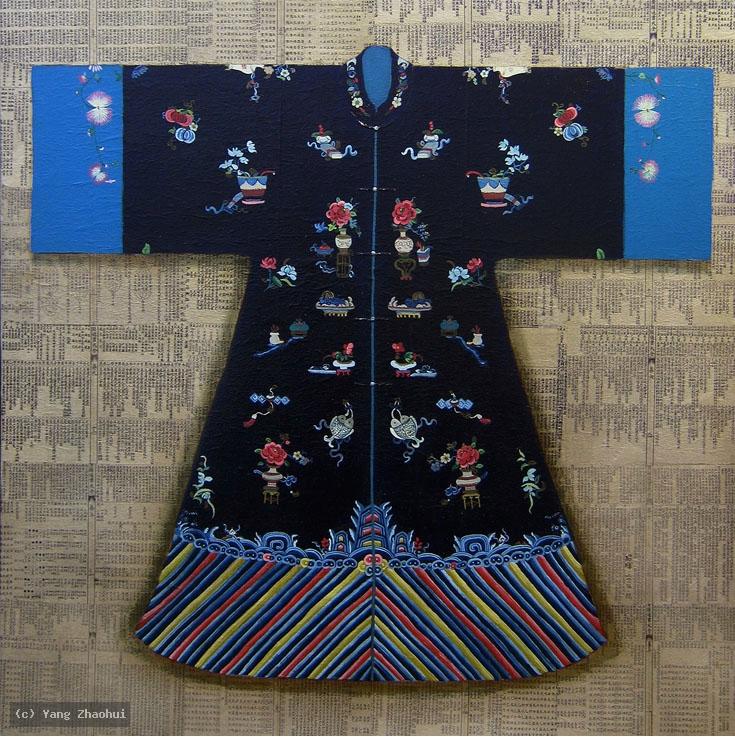 Artist Yang Zhaohui, Yang Zhaohui artwork, China contemporary art, original artwork, original painting, Chinese robe, still life : Chinese robe No.35