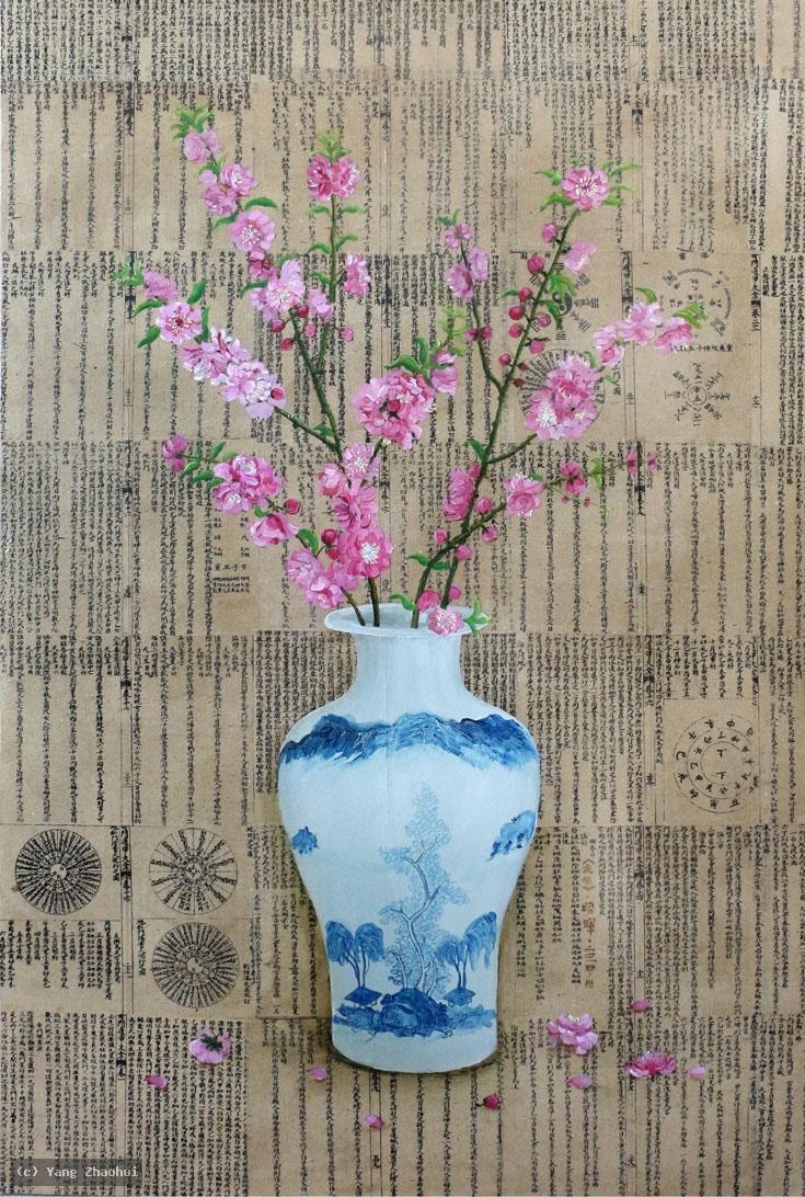 Artist Yang Zhaohui, Yang Zhaohui artwork, China contemporary art, original artwork, original painting, Chinese robe, still life : Still life No.14