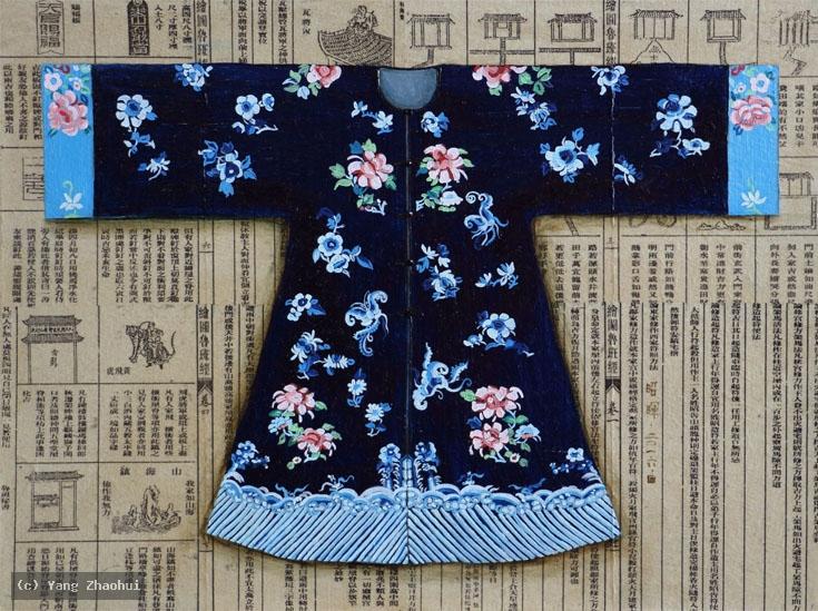 Artist Yang Zhaohui, Yang Zhaohui artwork, China contemporary art, original artwork, original painting, Chinese robe, still life : Chinese robe No.39