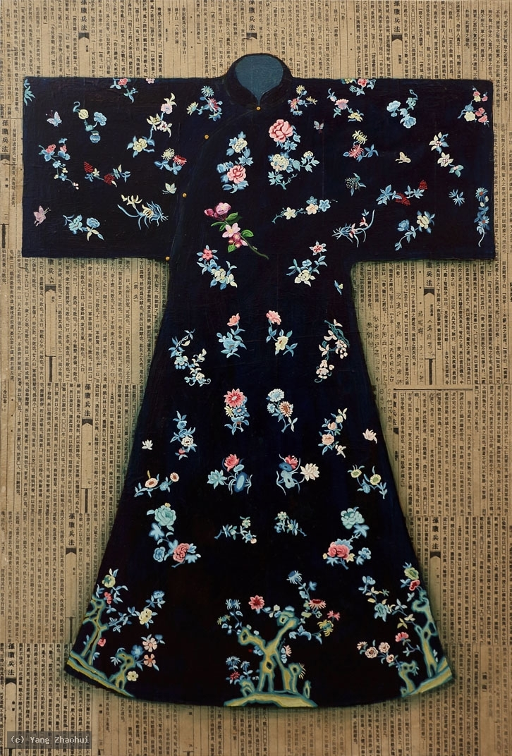 Artist Yang Zhaohui, Yang Zhaohui artwork, China contemporary art, original artwork, original painting, Chinese robe, still life : Chinese robe No.67