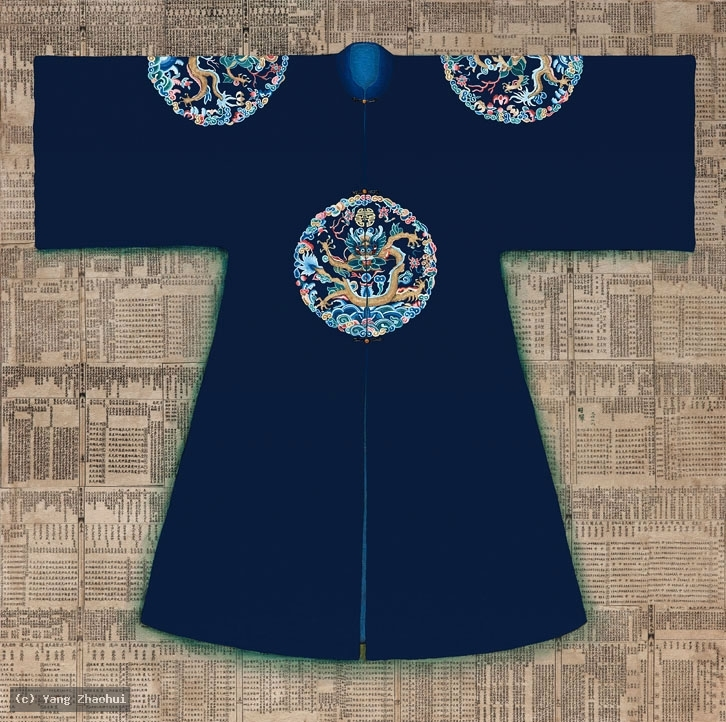 Artist Yang Zhaohui, Yang Zhaohui artwork, China contemporary art, original artwork, original painting, Chinese robe, still life : Chinese robe No.69